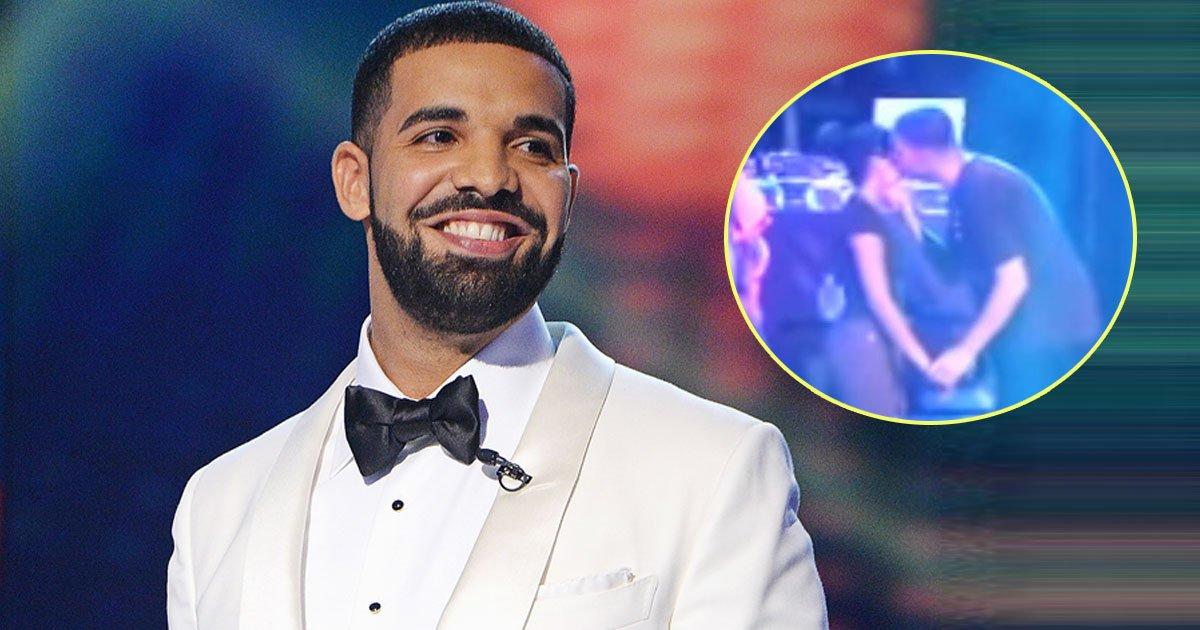 drake kissing girl.jpg?resize=412,275 - Drake Brutally Slammed After A Video Of Him Fondling An Underage Girl During A Concert Gone Viral