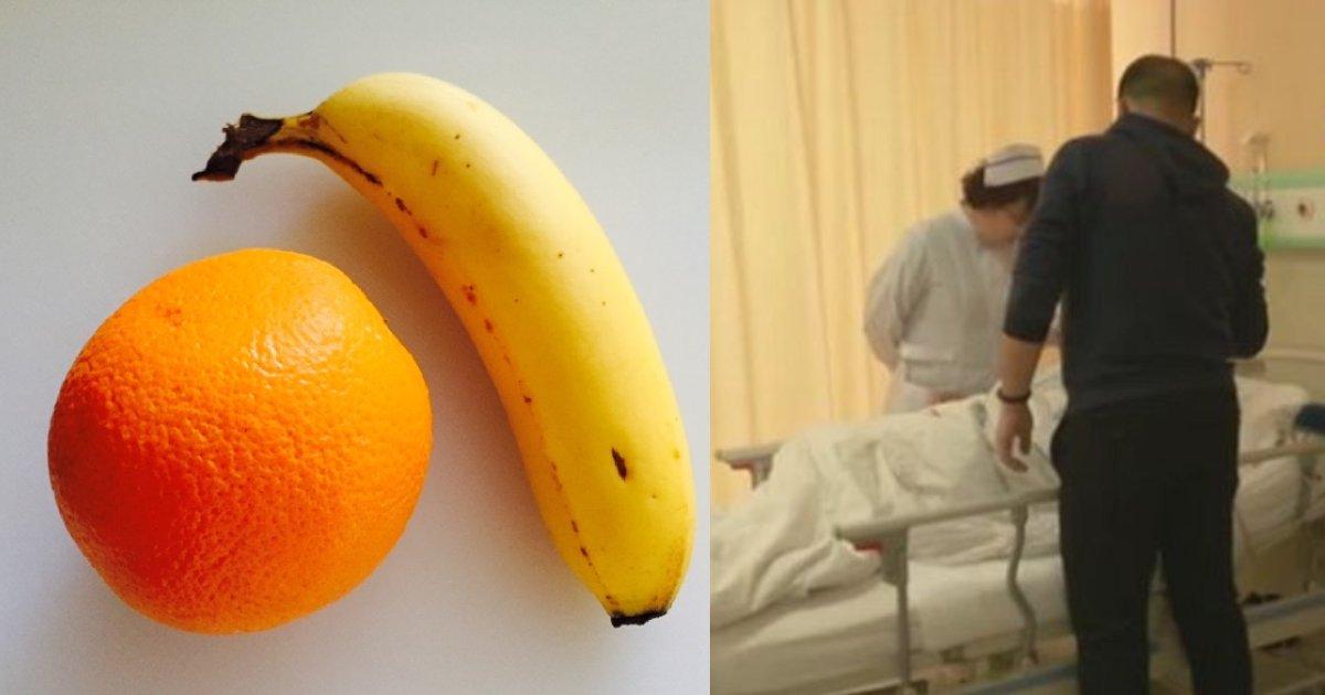 efbc91 17.png?resize=1200,630 - 健康に良いと「バナナ・オレンジ」5kgを食べた結果、〇〇になった男性!?