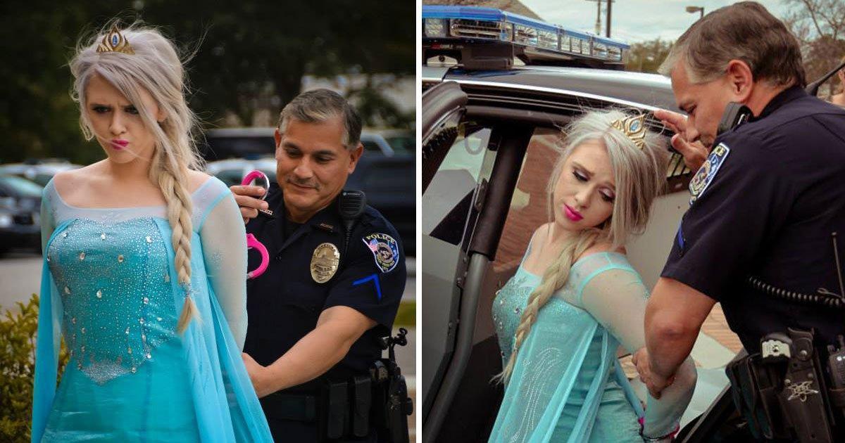 elsa arrested 1.jpg?resize=300,169 - La police a arrêté Elsa de la Reine des neiges