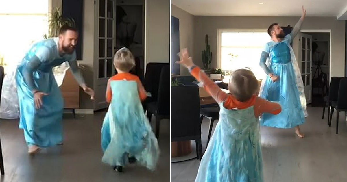 father son dress up elsa.jpg?resize=412,232 - Father-Son Duo Dress Up As Elsa And Dance To Let It Go