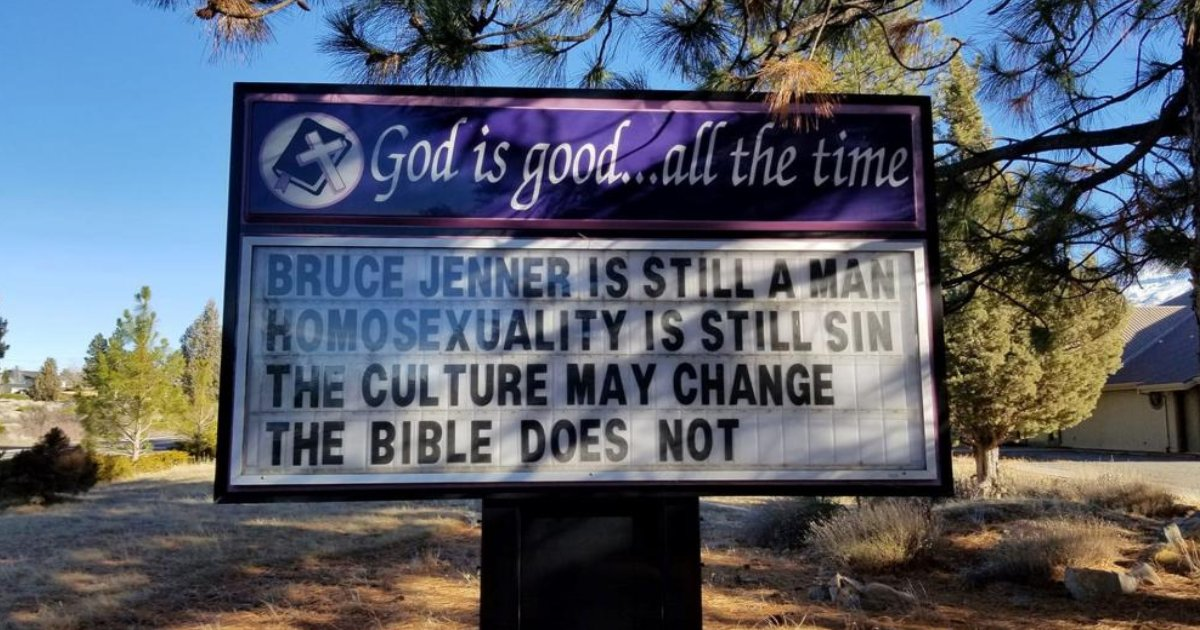featured image 12.png?resize=412,232 - Pastor Loses Job After Posting Church Sign 'Homosexuality Is Still Sin'