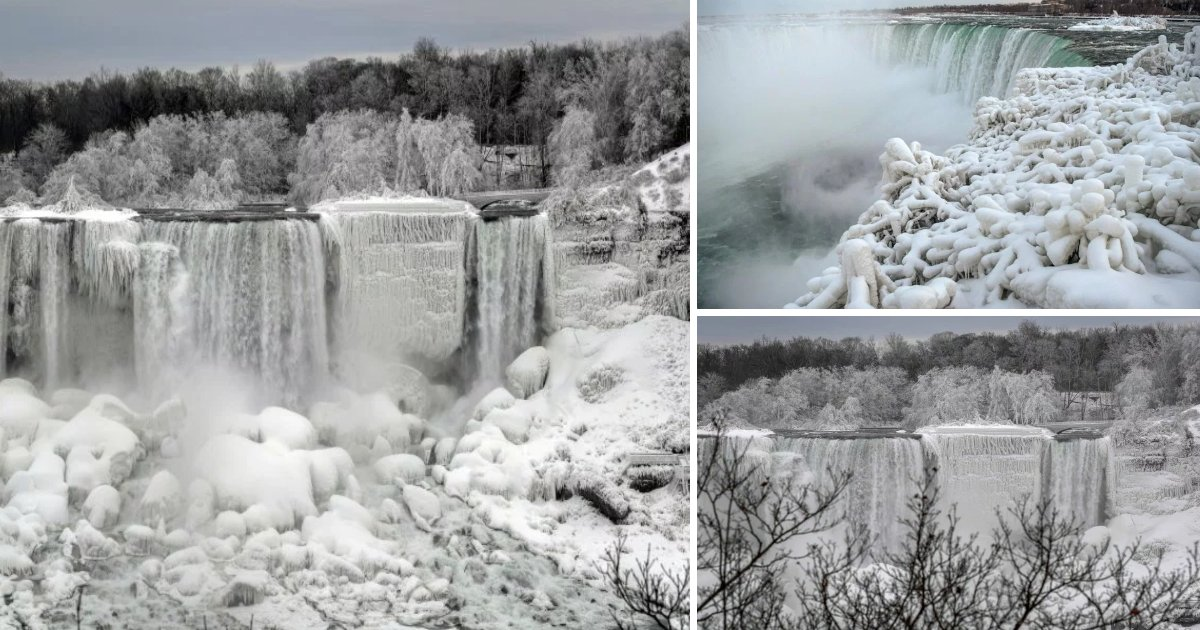 featured image 32.png?resize=1200,630 - Part Of Niagara Falls Has Frozen During Winter And The Photos Are Just Amazing