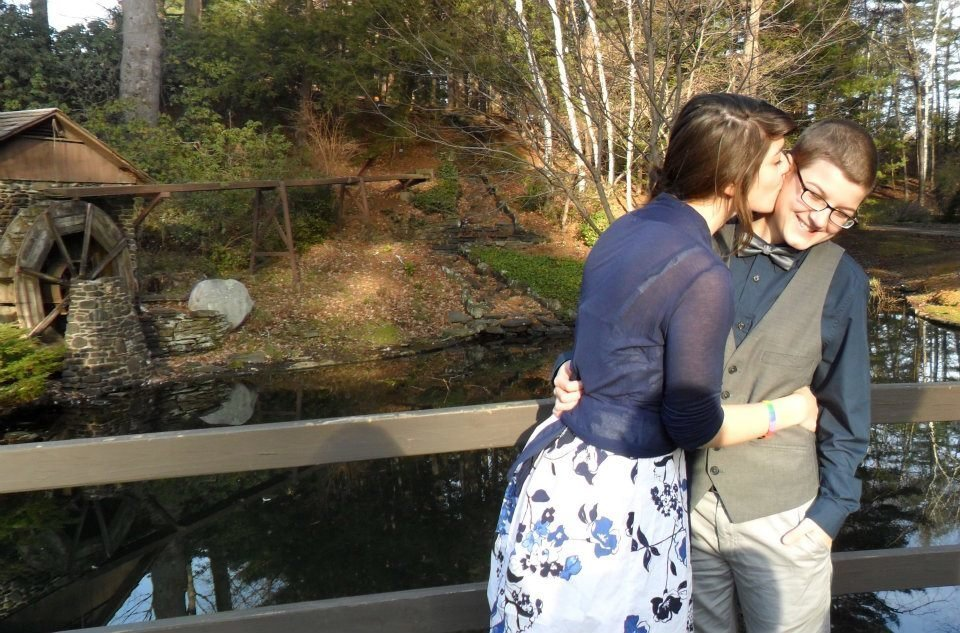 Getting married in Westfield, Massachusetts, after our final exams (2011).