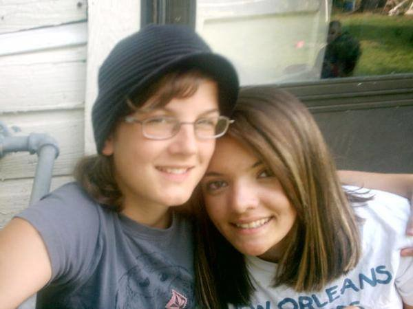 """Our first picture as a couple, taken in 2007 on our one month dating """"anniversary."""""""