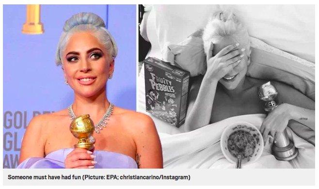 img 5c33ae9937196.png?resize=412,232 - Lady Gaga prouve qu'elle a bien célébré la victoire des Golden Globes avec une photo au réveil