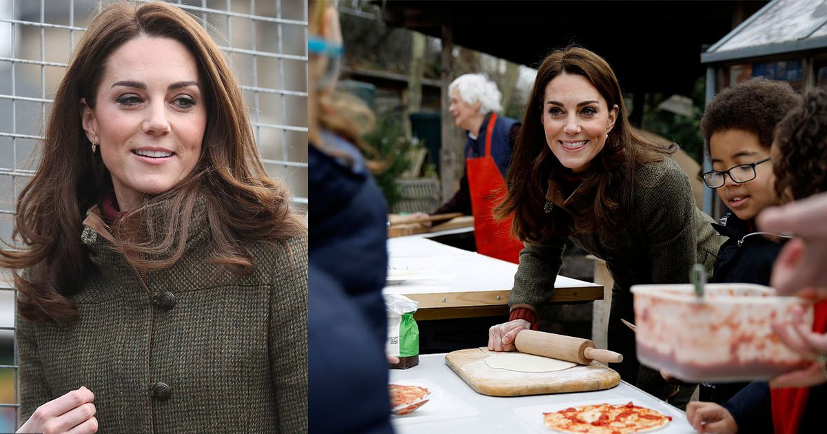 kate middleton tried her hand at pizza making in an open air kitchen during her visit to north london.jpg?resize=1200,630 - Kate Middleton Tried Her Hand At Pizza Making In An Open Air Kitchen During Her Visit To North London