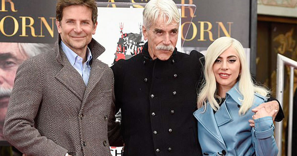 lady gaga and bradley cooper attended hand and footprint ceremony to support co star sam elliott.jpg?resize=412,232 - Lady Gaga And Bradley Cooper Attended Hand And Footprint Ceremony To Support Co-star Sam Elliott