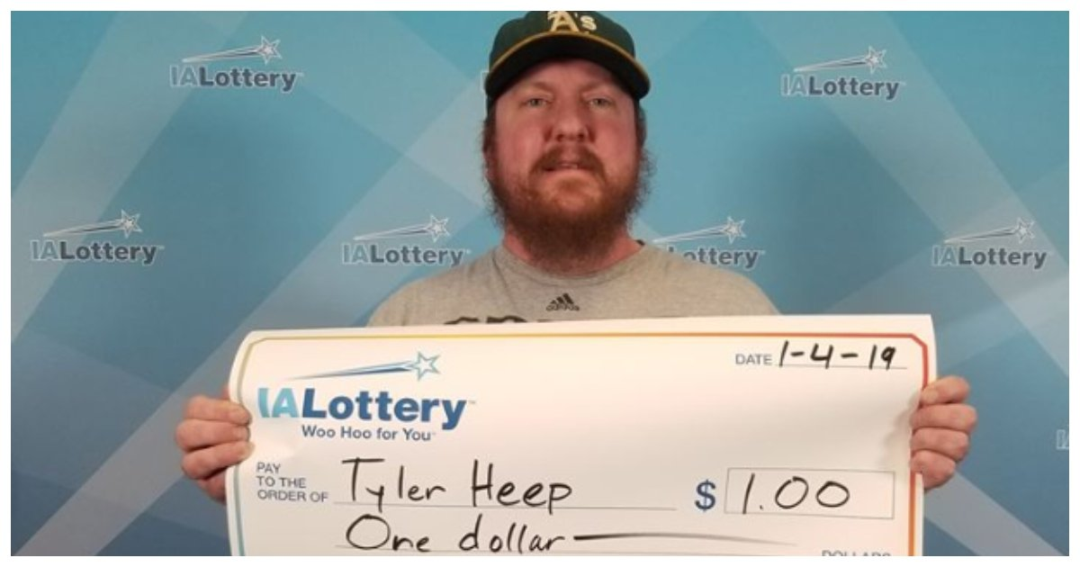 lottery.jpg?resize=412,232 - Man Asks Lottery Officials To Give Him Giant Check For $1 Win