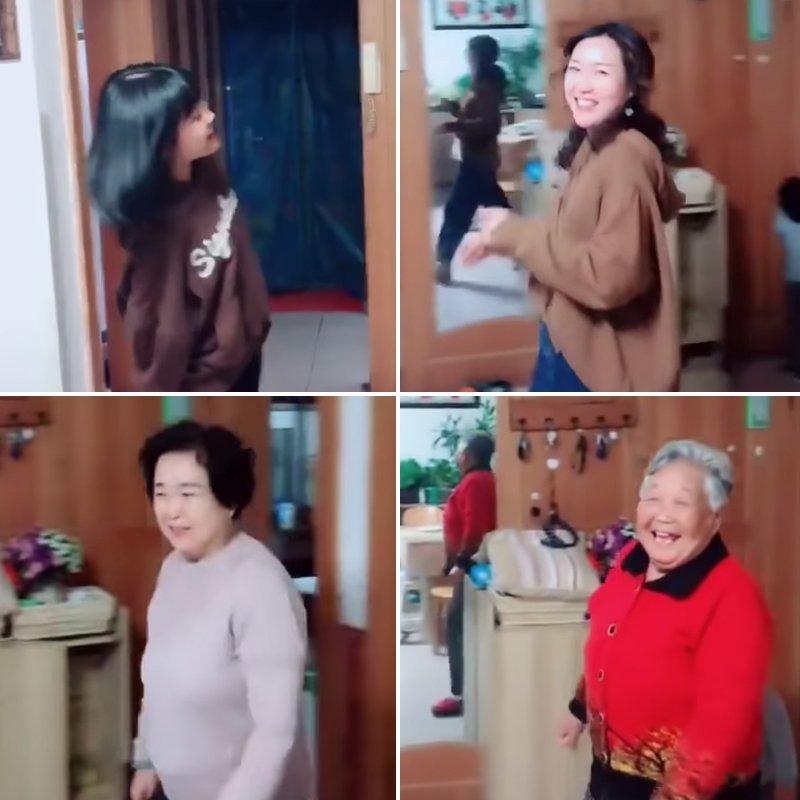 meme 4 generations chine 4.jpg?resize=300,169 - En Chine, un adorable défi met en avant les différentes générations de chaque famille