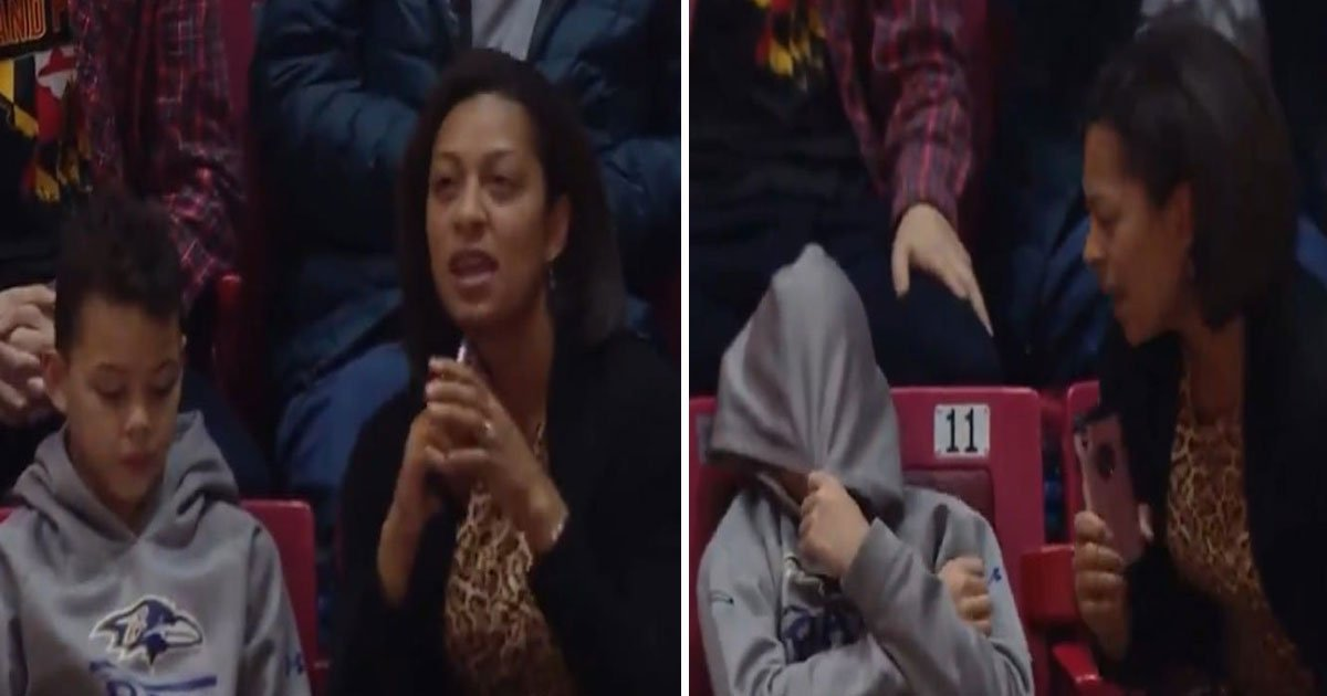 mom embarrasses son.jpg?resize=300,169 - Mother Embarrasses Her Son To Be On The Jumbotron