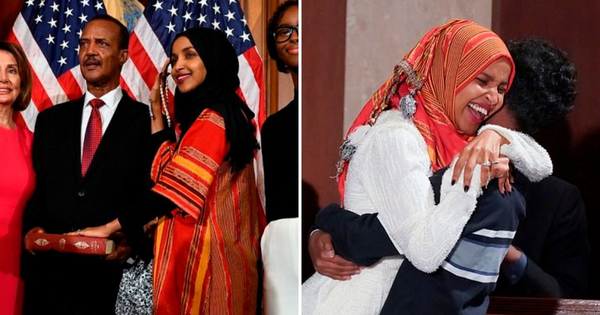 omar6.png?resize=1200,630 - Congresswoman Makes History By Being the First Female Muslim To Take Seat Wearing the Hijab