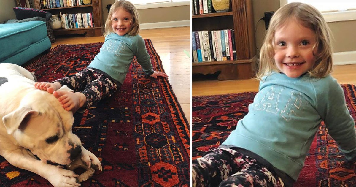 pitbull best friend toddler.jpg?resize=300,169 - Toddler Refuses To Sleep Without Her 'Best Friend And Bodyguard' As She Is Too Scared Of Earthquakes