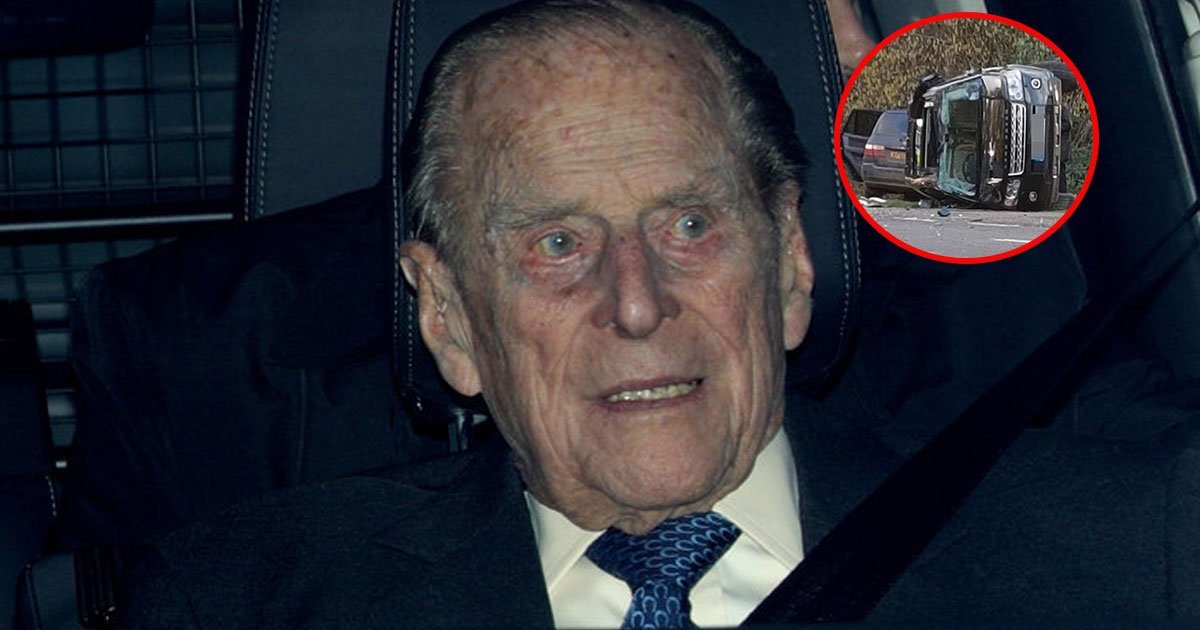 prince philips car crashes near sandringham and he left shocked and shaken.jpg?resize=412,232 - Prince Philip's Car Crashes Near Sandringham And Prince Philip Is Left 'Shocked And Shaken'