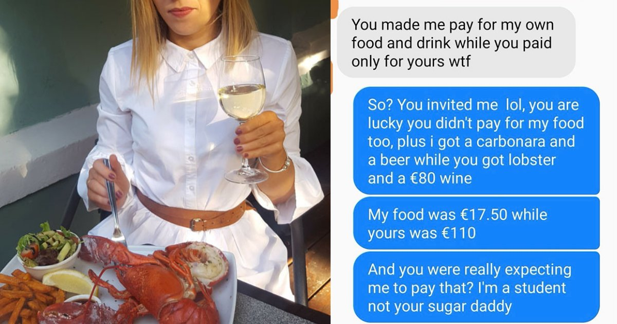 s4 3.png?resize=1200,630 - Girl Outraged After Man Told Her To Pay For Her Meal At High-End Restaurant On Their First Date