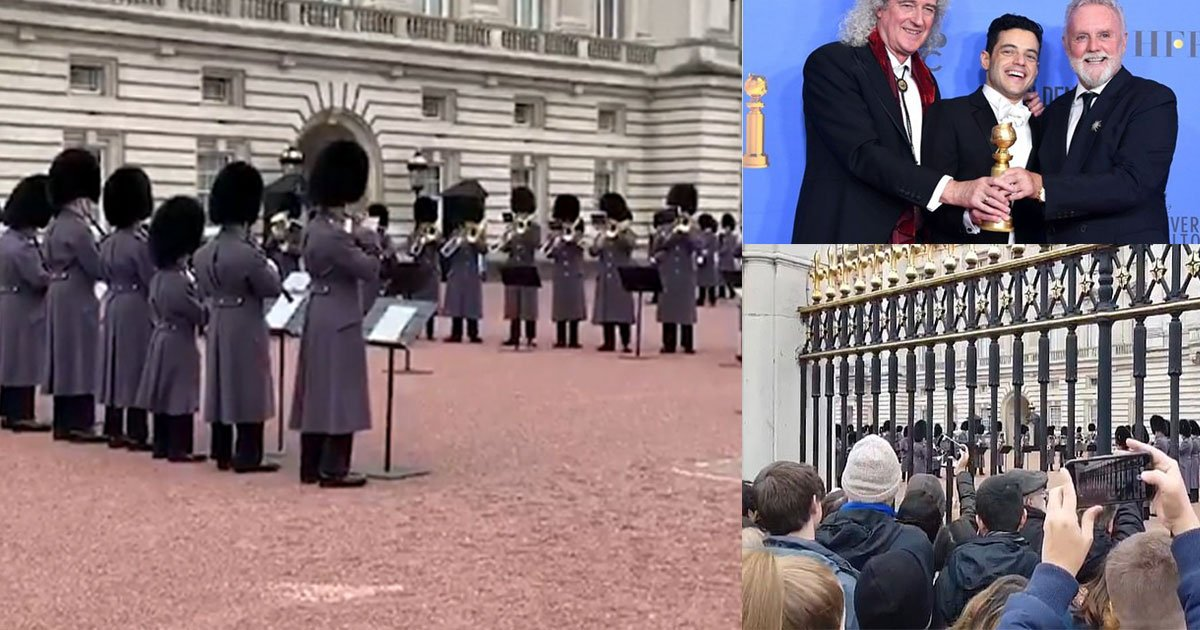 the queens guard performed bohemian rhapsody in the courtyard outside buckingham palace.jpg?resize=300,169 - The Queen's Guards Performed Bohemian Rhapsody In The Courtyard Outside Buckingham Palace