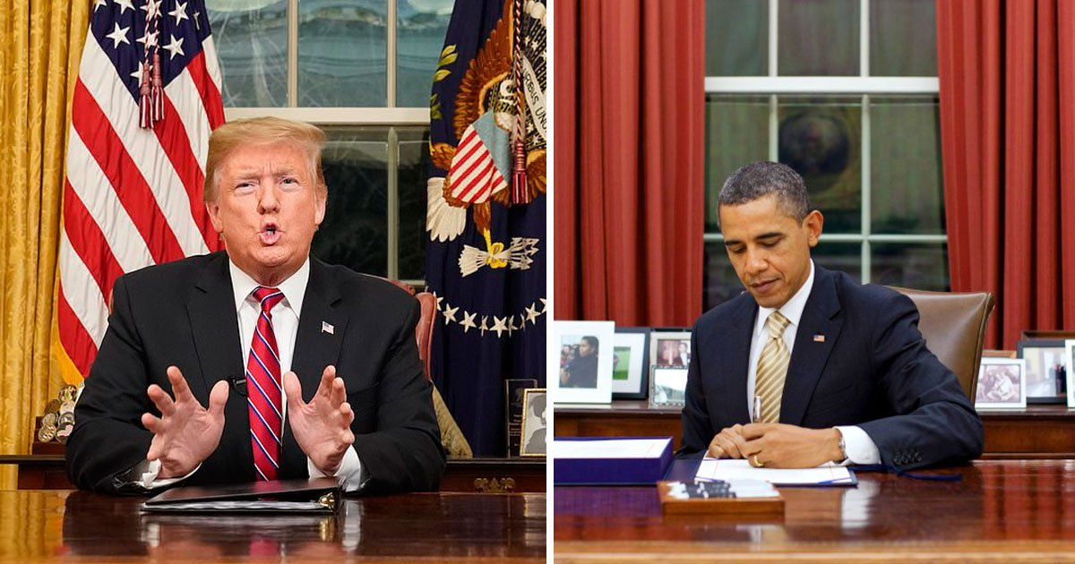 trump obama border wall.jpg?resize=300,169 - President Donald Trump Shares An Old Video Of Barack Obama - 'Thank You For Your Great Support' Trump Says