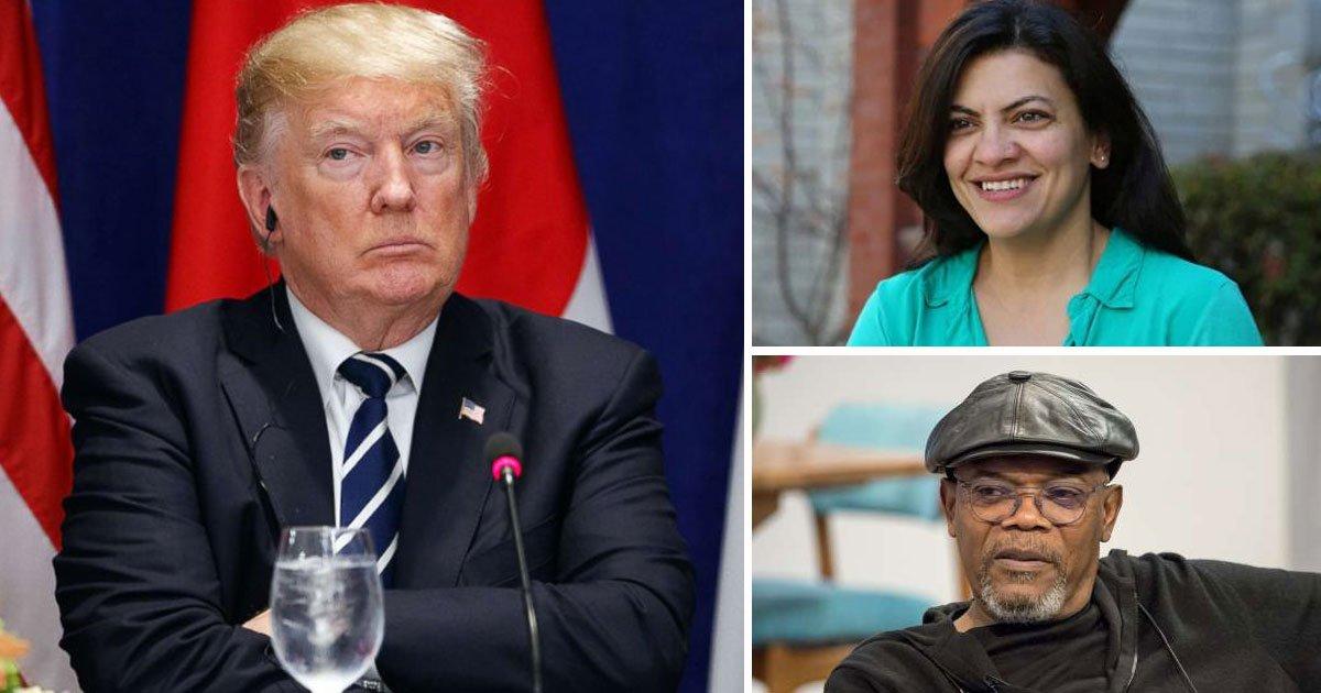 trump rashida samuel.jpg?resize=1200,630 - Congresswoman Rashida Tlaib Calls Donald Trump A Mother F***er - Samuel L. Jackson Supports Her
