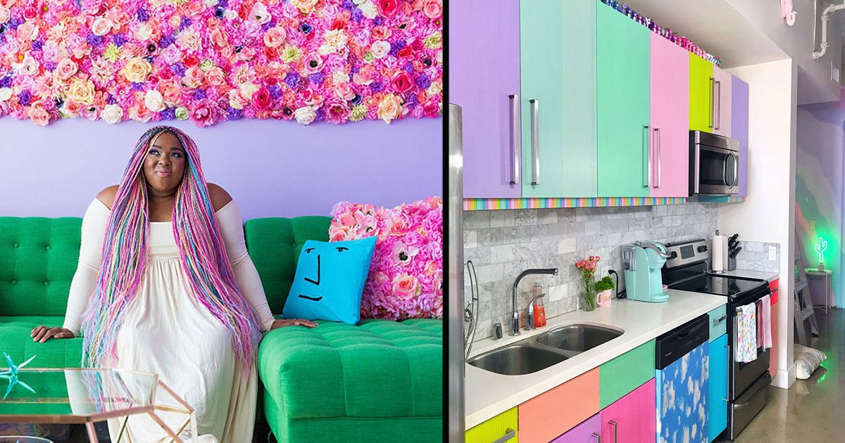 untitled 1 23.jpg?resize=412,232 - The Designer Has Taken The Internet By Storm With Her Most Colorful Apartment You've Ever Seen