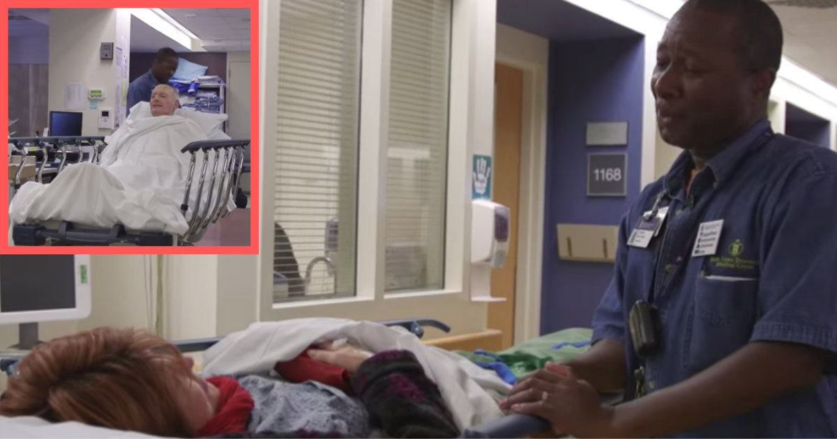 untitled design 1 4.png?resize=732,290 - Lindon Beckford-His Job Is To Take Patients To Their Rooms But He Was Captured In The CCTV Doing Something Else