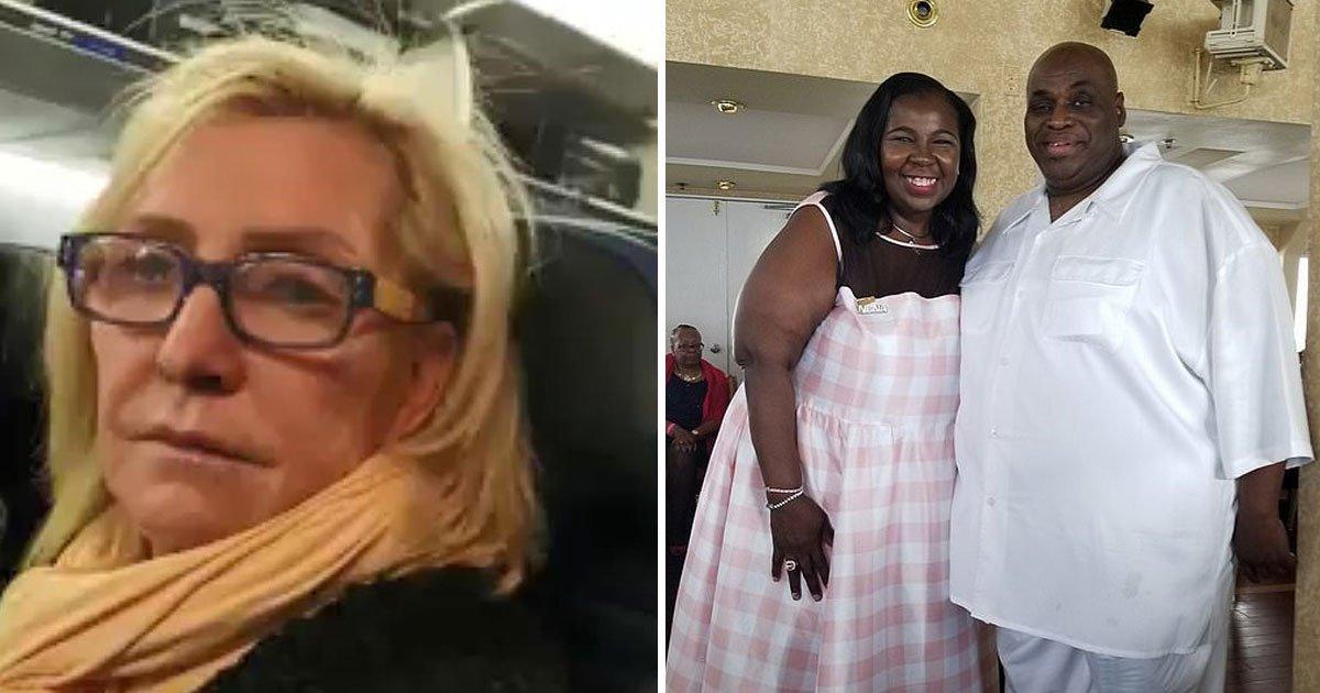 woman body shames passengers.jpg?resize=300,169 - Woman Fat Shames Fellow Passengers On A Flight As She Has To Sit Between Them