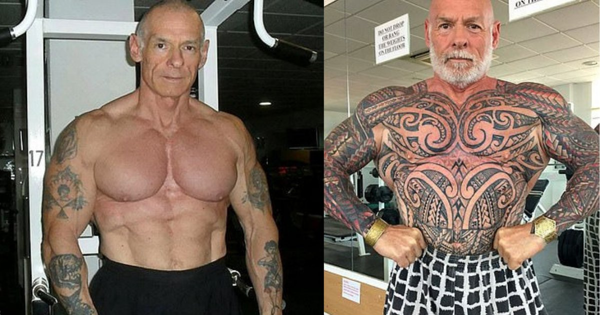y4.png?resize=1200,630 - 61 Years Old Bodybuilder Covers His Entire Body Up In Tattoos