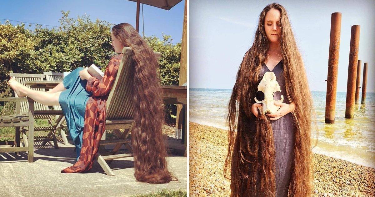 6 6.jpg?resize=412,232 - 26년 동안 머리 길러 '183cm' 머리카락 만든 여성 (영상)