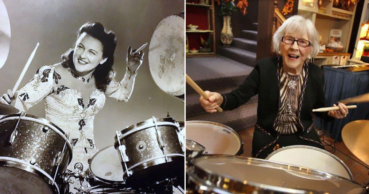 7 22.jpg?resize=412,232 - 약 100년동안 '드럼'을 연주해온 106세 할머니의 장수 비법