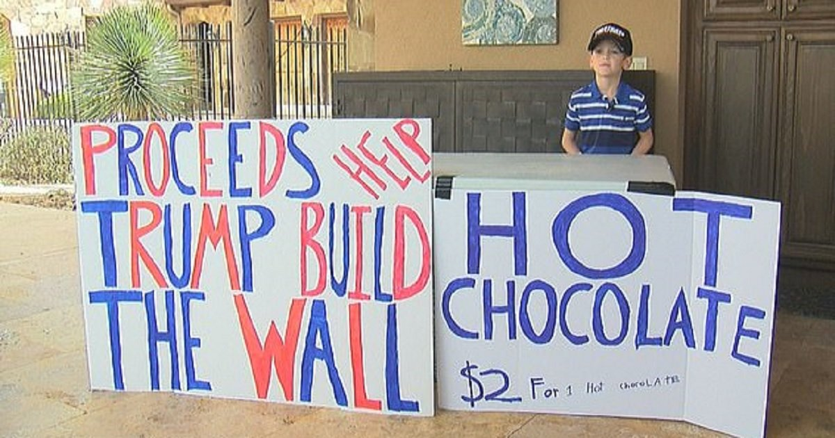 b3 1.jpg?resize=412,232 - Seven-Year-Old Boy Ridiculed For Putting Up Hot Chocolate Stand To Raise Funds For Trump's Border Wall