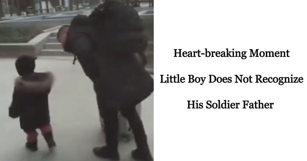 boy not recognize soldier father.jpg?resize=412,232 - Son Couldn't Recognize His Soldier Father Who Returned From A 10-Month Deployment