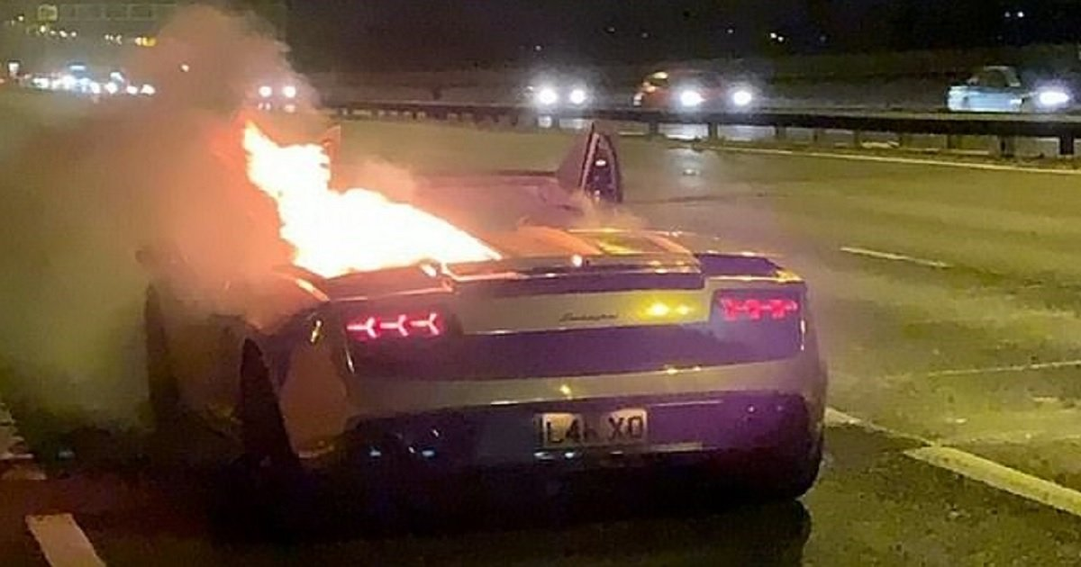 c3 7.jpg?resize=1200,630 - Businessman Watched Helplessly As His Lamborghini Went Up In Flames Just An Hour After Being Serviced