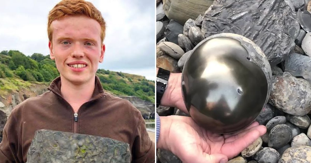 cannon5.png?resize=1200,630 - Student Finds Golden Cannonball On Beach With 185 Million-Year-Old Surprise Inside