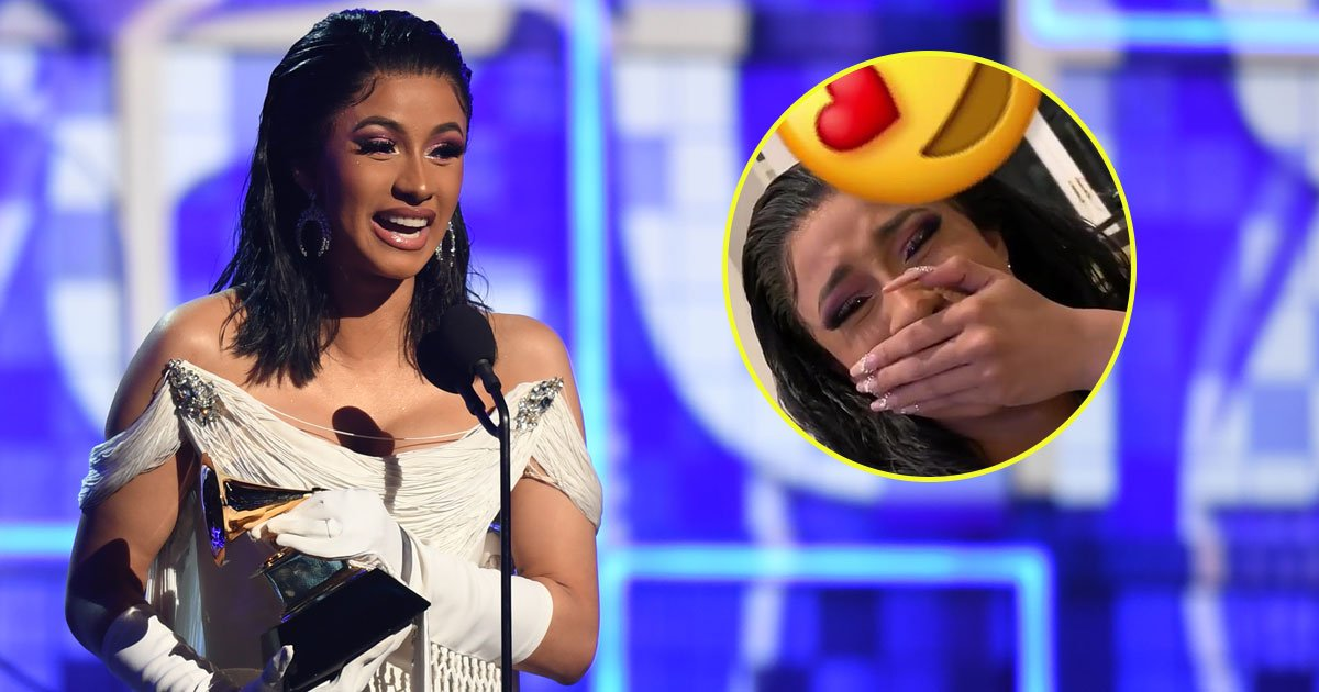cardi b daughter calls mama.jpg?resize=300,169 - Cardi B Shares A Clip Of Her Daughter Calling Her 'Mama' For The First Time After Winning The Best Rap Album At The Grammy Awards