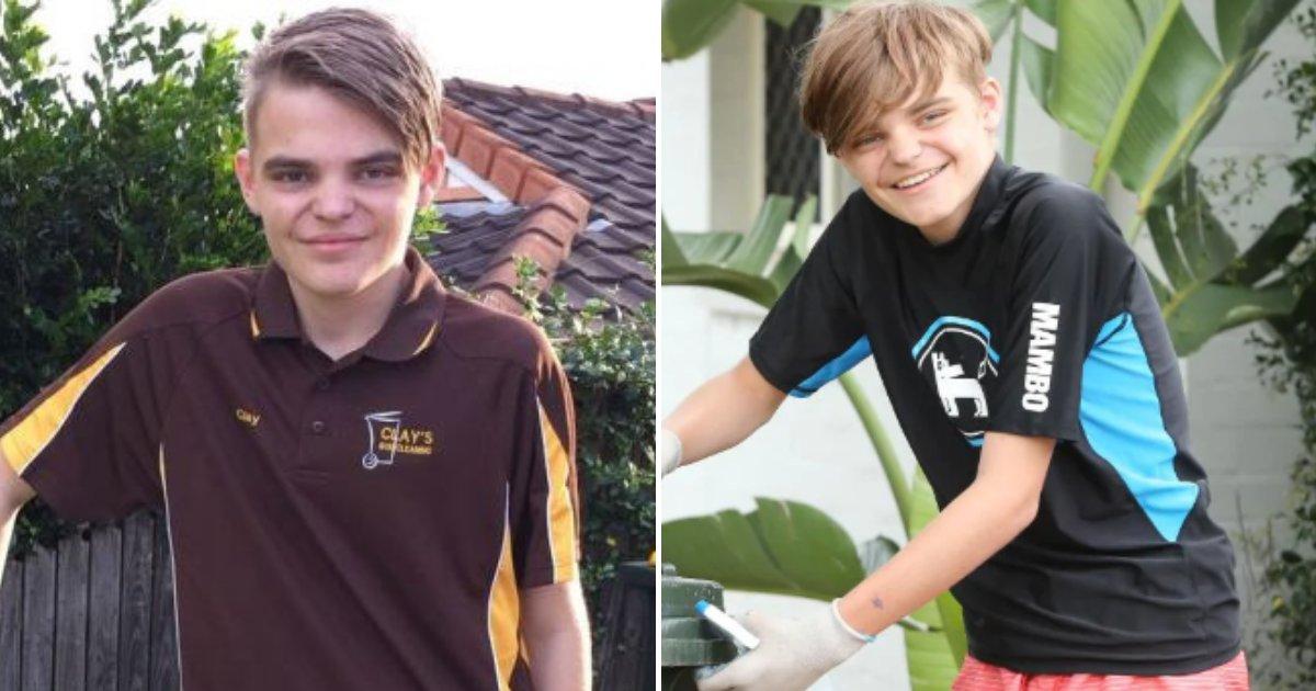 clay6.png?resize=412,232 - Un jeune de 16 ans atteint d'autisme démarre sa propre entreprise après avoir été rejeté par des employeurs