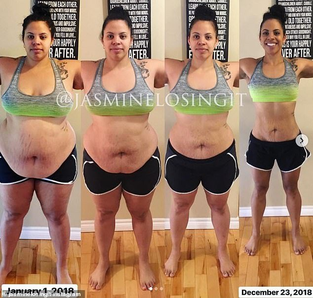 Success story: Jasmine went from 294lbs to 174lbs and completely transformed her body, a process that first started when she saw an unflattering image of herself
