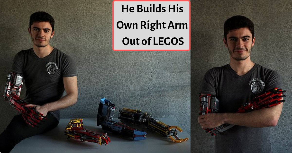 d4 4.png?resize=1200,630 - A Teenager Has Built Prosthetics For Himself Out Of LEGOS As He Was Born Without a Forearm