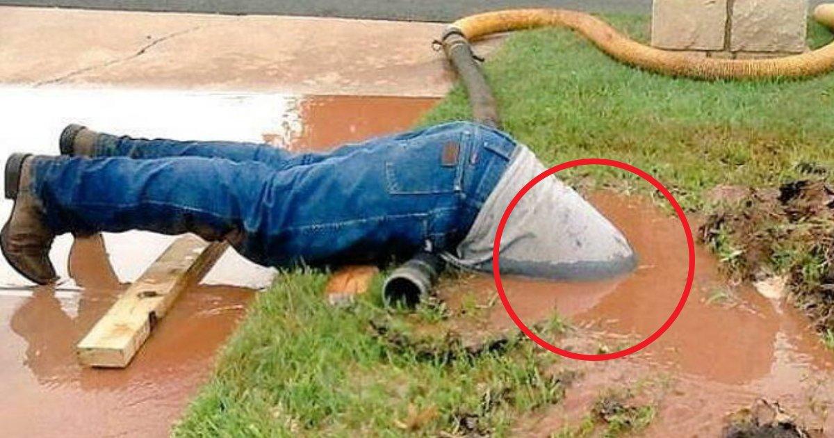 doromizu.jpg?resize=1200,630 - 男性が泥水に埋もれている1枚の写真…一体どうして…?!