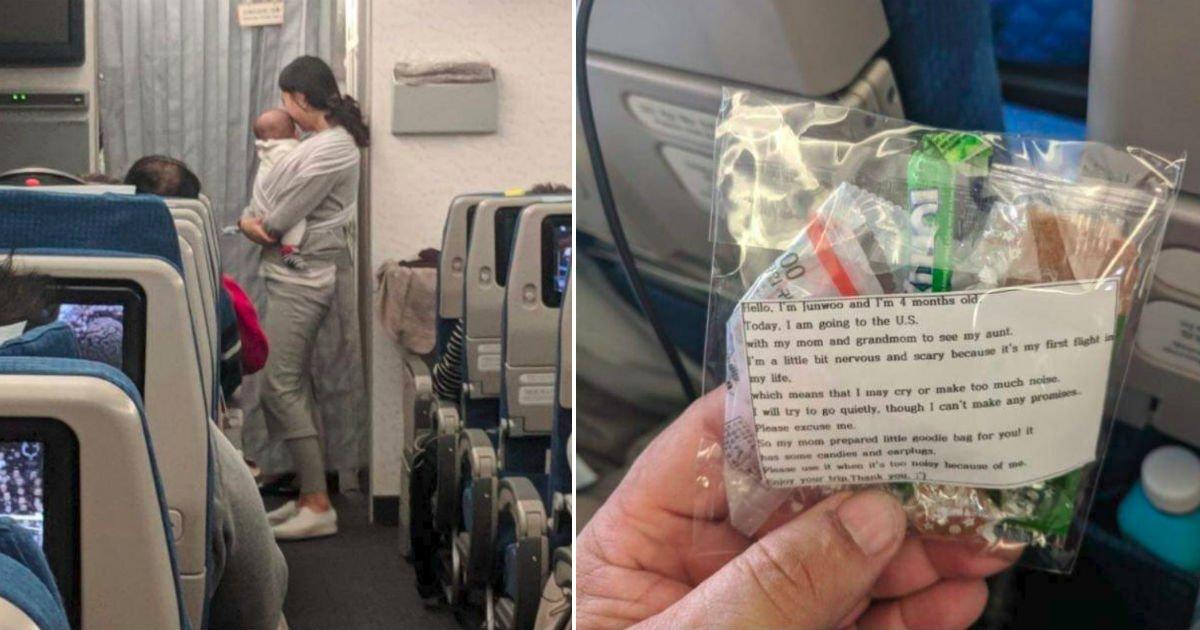 e1848ae185a5e186b7e18482e185a6e1848be185b5e186af4 15.jpg?resize=412,232 - 비행기가 처음인 '생후 4개월' 아들을 위해 탑승객에게 선물 돌린 엄마