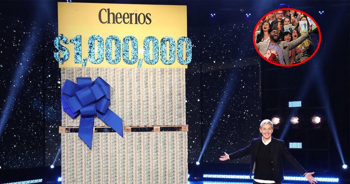 ellen degeneres left her audience shocked as she gave away 1 million to them.jpg?resize=412,232 - Ellen Degeneres Left Her Audience Shocked As She Gave Away $1 Million To Them