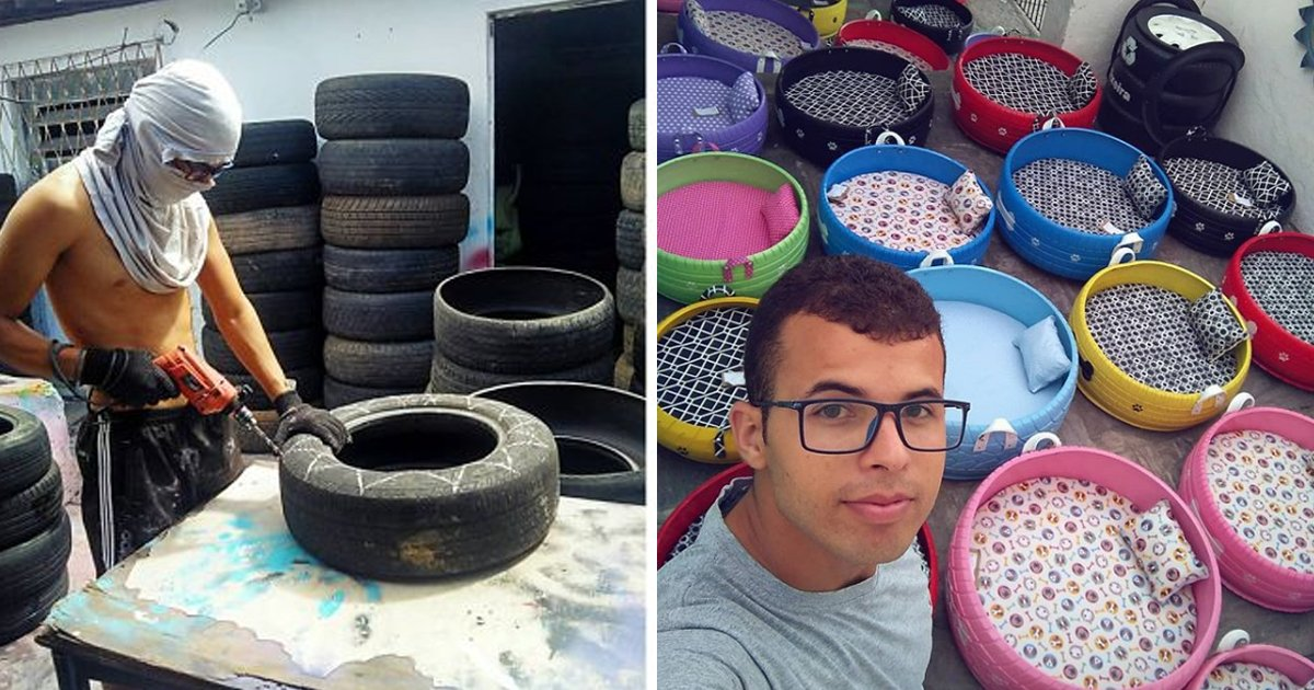 gaga.jpg?resize=412,232 - Brazilian Artist Transformed Old Tires Into Beautiful Dog Beds And This Is The Best Thing You Will See Today