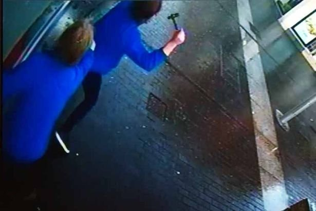 CCTV of the moment the shop was attacked