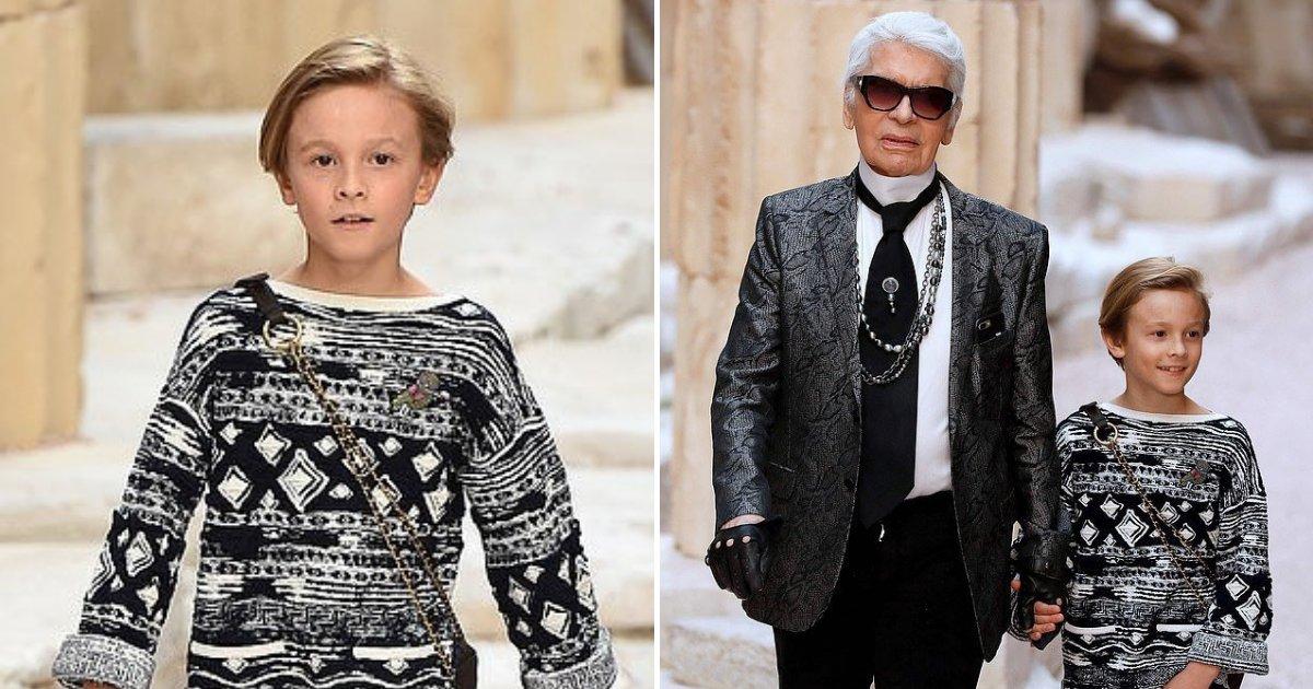 lagerfeld3.png?resize=412,232 - Rencontre avec un mannequin de 11 ans qui pourrait hériter de la fortune de 200 millions de dollars de Karl Lagerfeld
