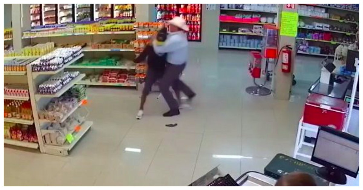 man.jpg?resize=412,232 - Gun-Wielding Robber Has His Weapon Taken Away From Him By Fast-Thinking Customer With A Cowboy Hat