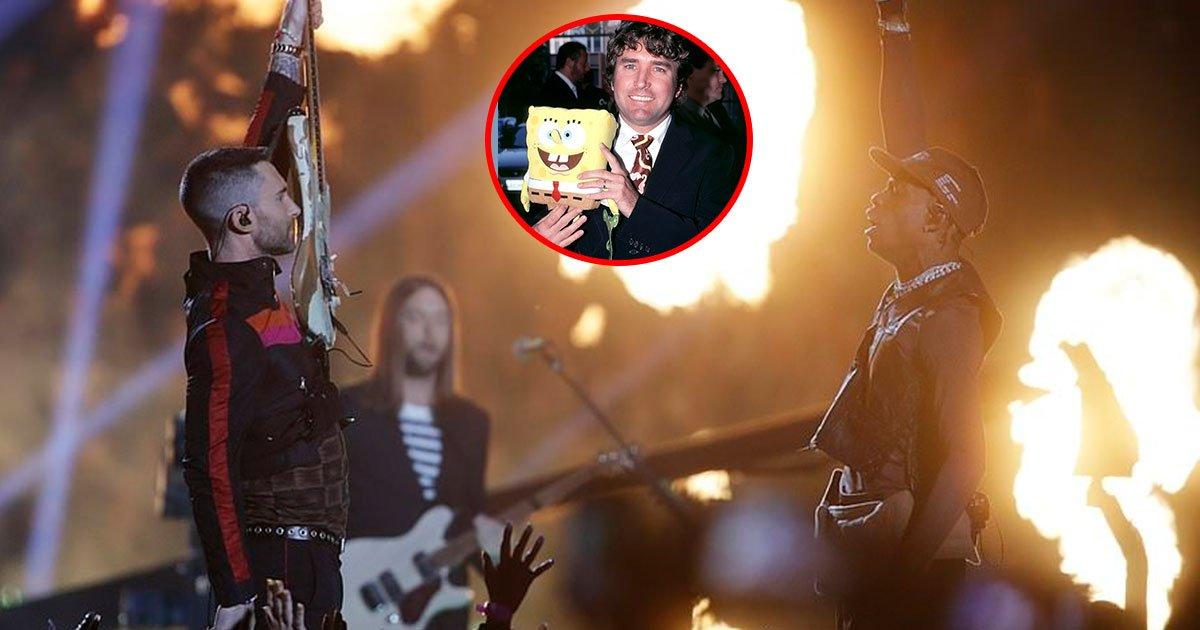 maroon 5 and travis scott pay tribute to to the late spongebob squarepants creator.jpg?resize=1200,630 - Maroon 5 And Travis Scott Pay Tribute To To The Late Spongebob Squarepants Creator