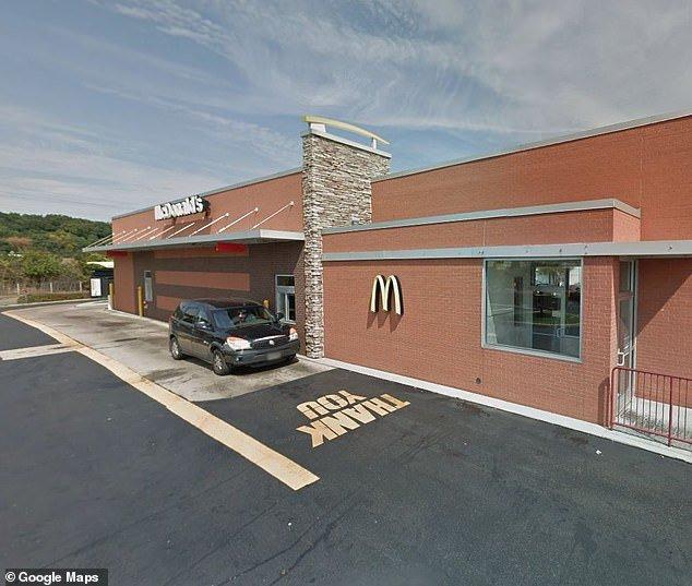 Moyer went through the drive-thru at a McDonald