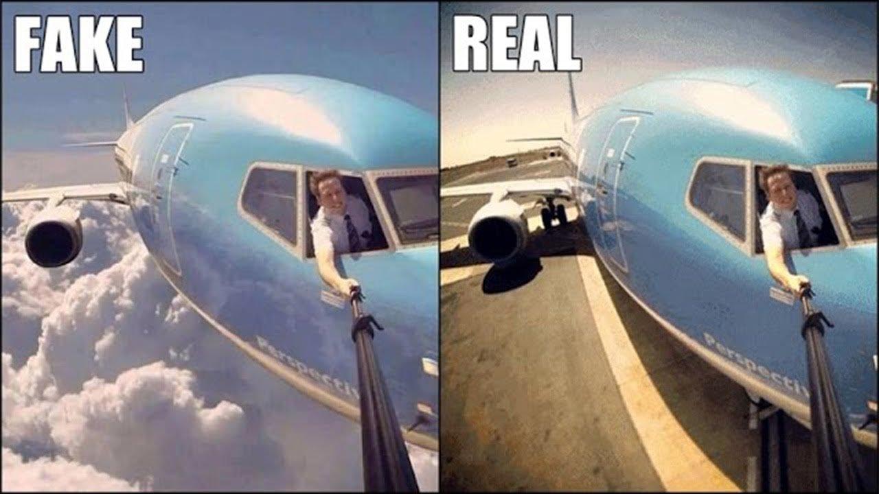 Image result for fake vs real photos vira