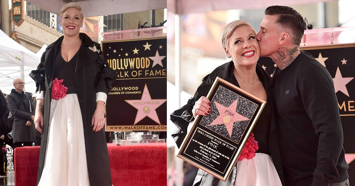 pop star pink received a star on hollywood walk of fame and thanked her family in her acceptance speech.jpg?resize=1200,630 - Pop Star Pink Received A Star On Hollywood Walk Of Fame And Thanked Her Family In Her Acceptance Speech