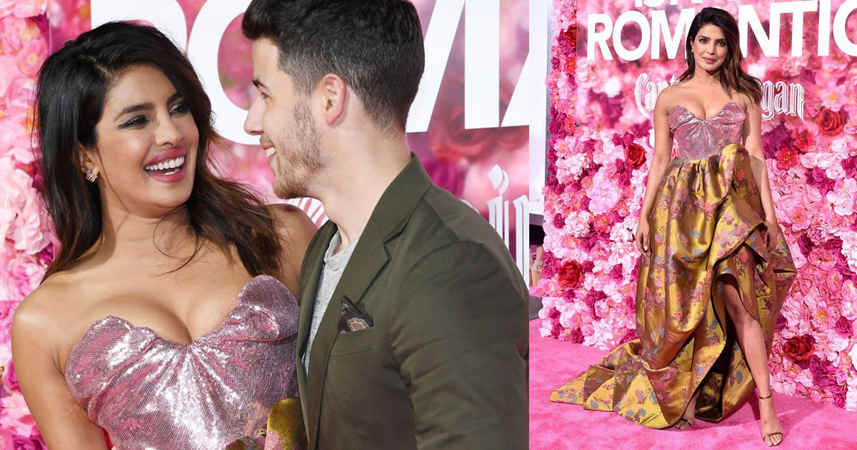 priyanka chopra stunned in pink corseted gown as she attended movie premiere with husband nick jonas.jpg?resize=412,232 - Priyanka Chopra Stunned In Pink Corseted Gown As She Attended Movie Premiere With Husband Nick Jonas