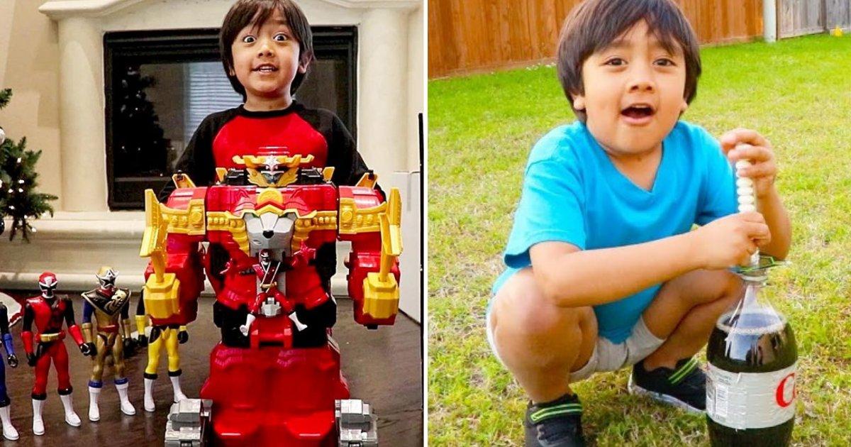 ryan6.png?resize=1200,630 - Un garçon de 8 ans gagne 22,6 millions de dollars par an en donnant son opinion sur des jouets sur YouTube