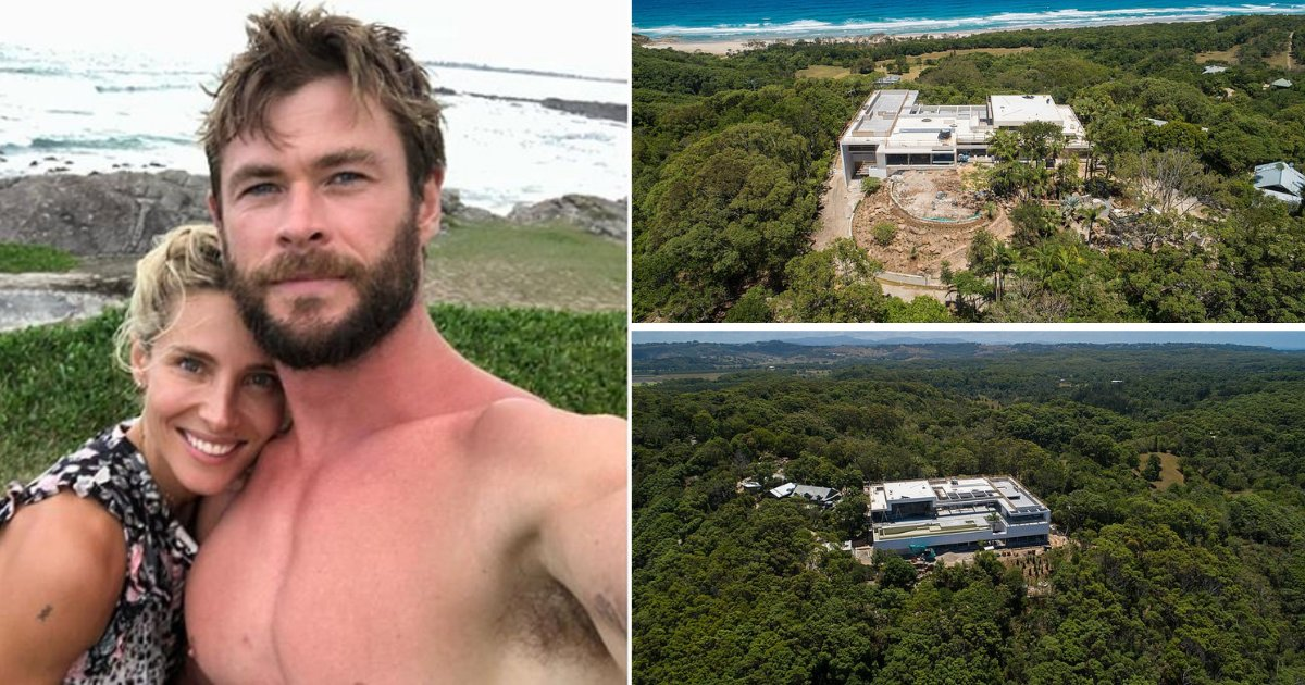 s4 1.png?resize=1200,630 - Here's An Aerial Look of Chris Hemsworth and Wife Elsa Pataky's New Mega-Mansion Dream House