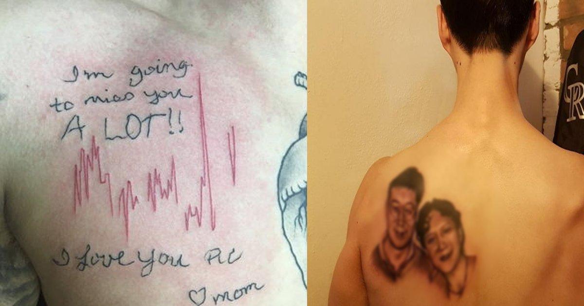 tatoo heart sound.png?resize=1200,630 - 亡くなった母の最後の心臓の音を胸に「タトゥー」を入れた息子